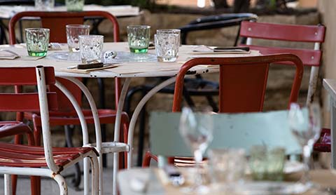 terrace restaurant de pizzas à Gordes